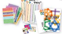 Kalender und Stickerheft