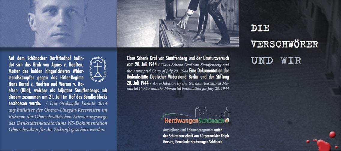 Die Verschwörer und wir - Ausstellung Widerstand und 20. Juli 1944